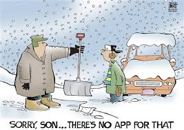 Snow shoveling app