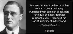 Inspirational real estate quote